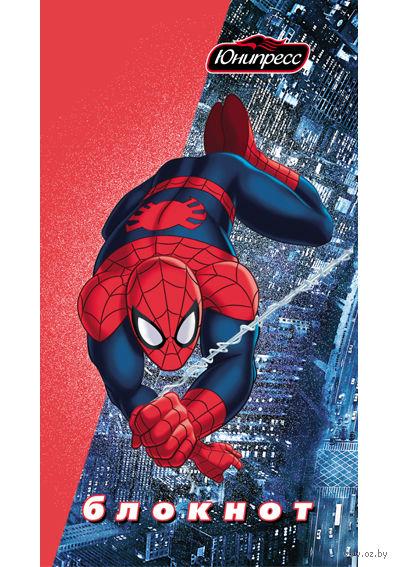 """Блокнот """"Человек-паук"""" А7 (в клетку)"""