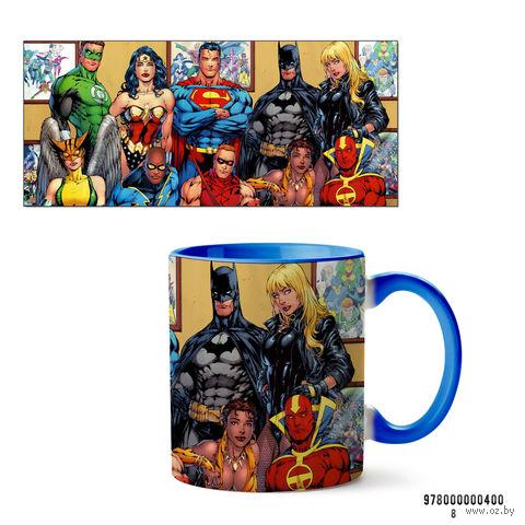 """Кружка """"Вселенная DC"""" (голубая; арт. 400) — фото, картинка"""