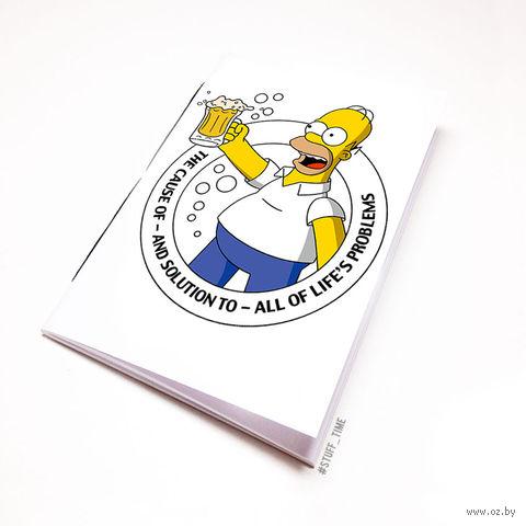 """Блокнот """"Гомер Симпсон"""" (А5; арт. 018) — фото, картинка"""
