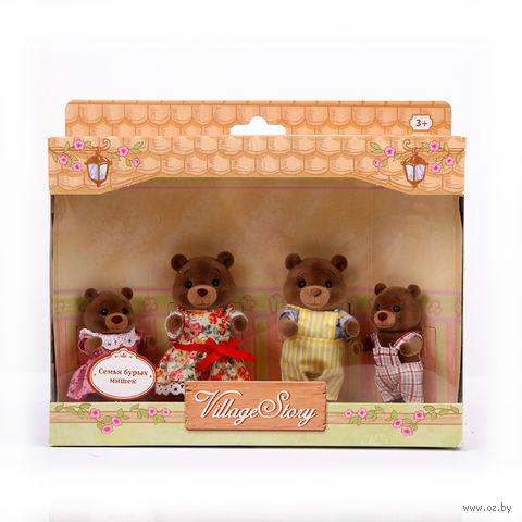"""Набор фигурок """"Семья бурых мишек"""" (4 шт.) — фото, картинка"""