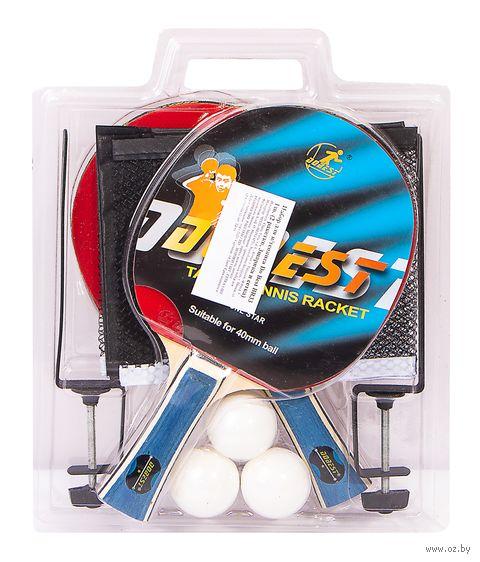 Набор для настольного тенниса BR33 (2 ракетки+3 мяча; 1 звезда) — фото, картинка