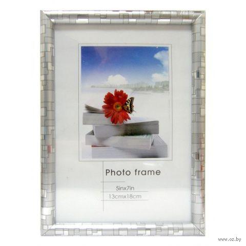 Рамка пластиковая со стеклом (13x18 см; арт. РВ22А-5х7) — фото, картинка