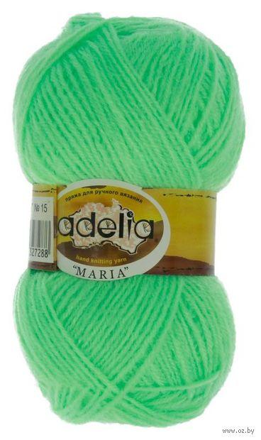 """Пряжа """"Adelia. Maria №15"""" (50 г; 227 м; неоновый зелёный) — фото, картинка"""