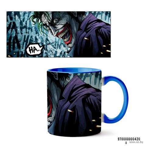 """Кружка """"Джокер из вселенной DC"""" (арт. 420, голубая)"""