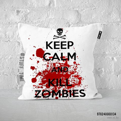 "Подушка ""Kill Zombies"" (арт. 134) — фото, картинка"