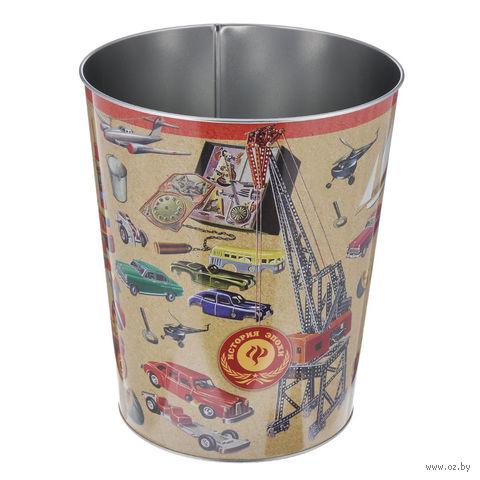 """Ведро мусорное """"Игрушки"""" (23x26 см, арт. 37665) — фото, картинка"""