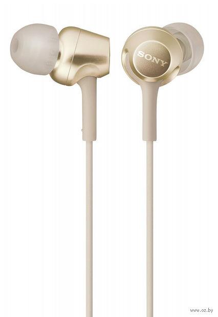 Наушники с микрофоном Sony MDR-EX255APN (золотые) — фото, картинка