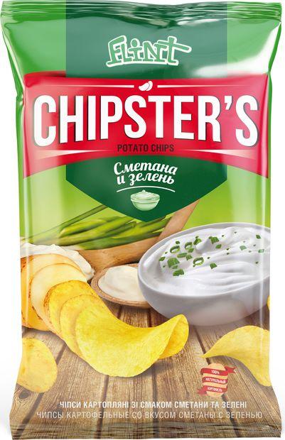 """Чипсы картофельные """"Chipster's. Сметана и зелень"""" (130 г) — фото, картинка"""