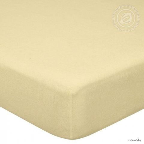 """Простыня махровая на резинке """"Акация"""" (120х200 см) — фото, картинка"""