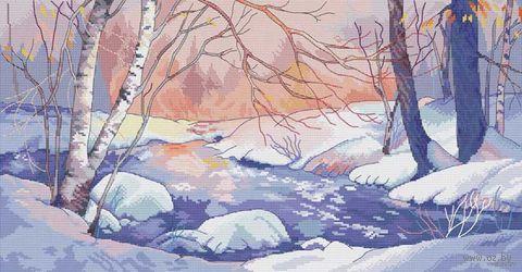 """Вышивка крестом """"Зимний пейзаж"""" (265х510 мм) — фото, картинка"""