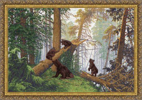 """Вышивка крестом """"Утро в сосновом лесу"""" (529х781 мм) — фото, картинка"""
