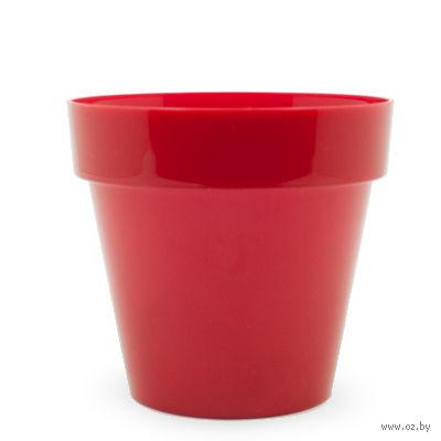 """Цветочный горшок """"Crystal"""" (16 см; красный) — фото, картинка"""