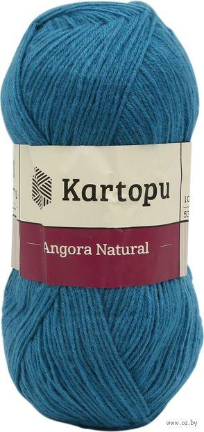 "Пряжа ""KARTOPU. Angora Natural №K1467"" (100 г; 530 м; темно-голубой) — фото, картинка"