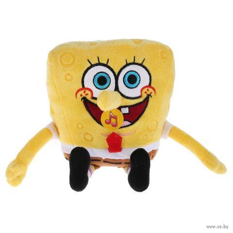 """Мягкая музыкальная игрушка """"Губка Боб"""" (14 см) — фото, картинка"""