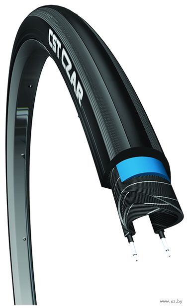 """Покрышка для велосипеда """"C-1406 CZAR Pro"""" (чёрно-серая; 700х25C) — фото, картинка"""