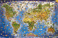 Мировая карта изобретений и открытий — фото, картинка