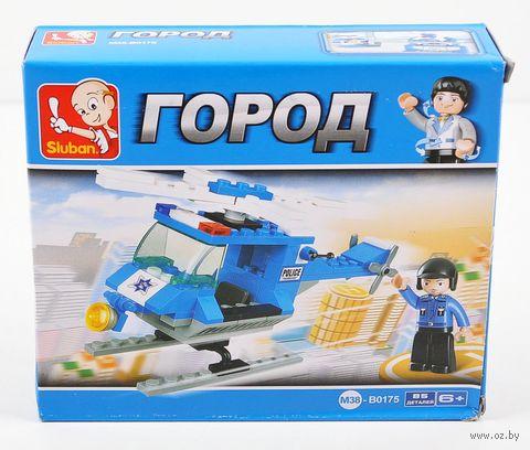 """Конструктор """"Полиццейский спецназ. Вертолет с фигуркой"""" (85 деталей) — фото, картинка"""