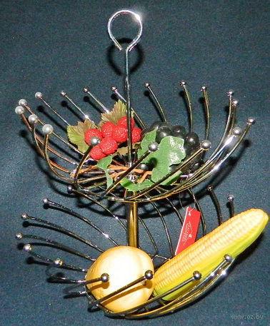 Подставка для фруктов металлическая двухъярусная (27/30*38 см, арт. XX9328)
