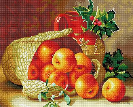 """Алмазная вышивка-мозаика """"Яблочный натюрморт"""" — фото, картинка"""