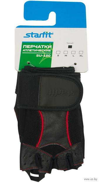 Перчатки атлетические SU-120 (L; чёрные) — фото, картинка