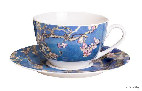 "Чашка с блюдцем ""Ван Гог. Цветущий миндаль"" — фото, картинка"