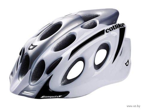 """Шлем велосипедный """"Kompakt'o"""" (M; бело-серый) — фото, картинка"""