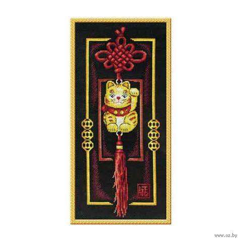 """Вышивка крестом """"Золотой котик"""" (190х420 мм) — фото, картинка"""