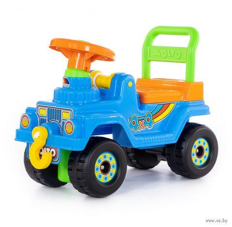 """Автомобиль-каталка """"Джип 4х4"""" (со звуковыми эффектами; арт. 62789) — фото, картинка"""