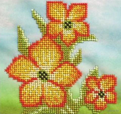"""Вышивка бисером """"Нарцисс"""" (150х150 мм) — фото, картинка"""