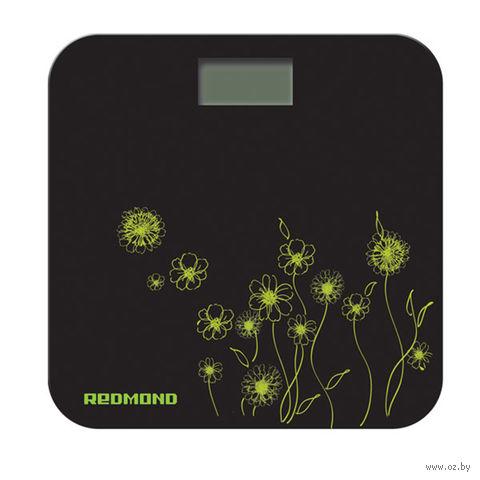 Напольные весы Redmond RS-715 (цветы зеленые) — фото, картинка