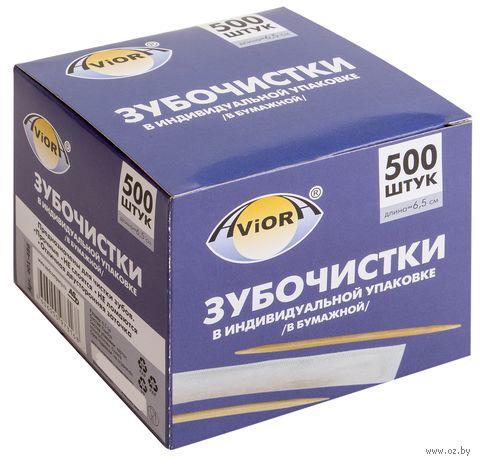 Набор зубочисток бамбуковых (500 шт.; 65 мм) — фото, картинка