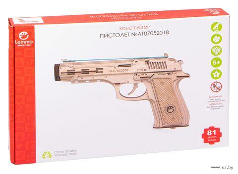 """Сборная деревянная модель """"Пистолет-резинкострел с мишенями"""" — фото, картинка"""