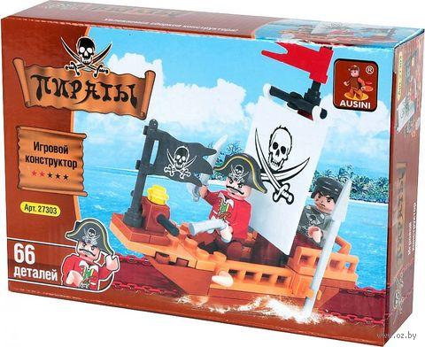 """Конструктор """"Пираты. Корабль"""" (66 деталей)"""