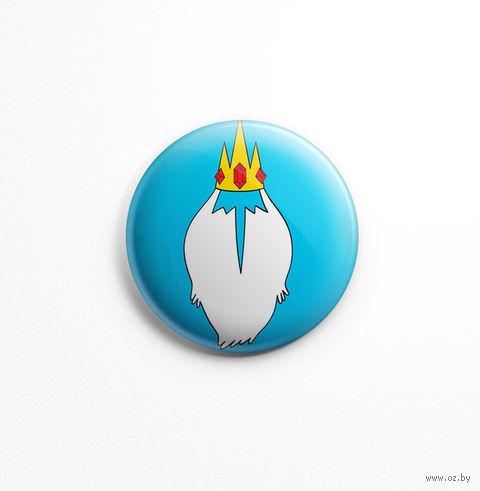 """Значок маленький """"Время приключений. Ледяной Король"""" (арт. 644) — фото, картинка"""