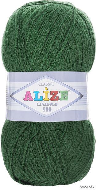 """Пряжа """"ALIZE. Lana Gold 800 №118"""" (100 г; 800 м; зеленая трава) — фото, картинка"""