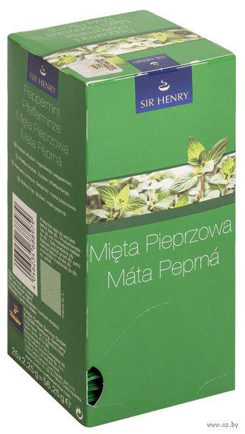 "Фиточай ""Sir Henry. Tea Selection. Peppermint"" (25 пакетиков) — фото, картинка"