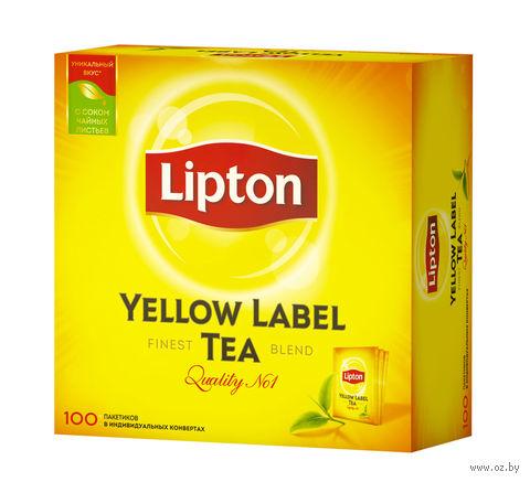 """Чай черный """"Lipton. Yellow Label"""" (100 пакетиков; саше) — фото, картинка"""