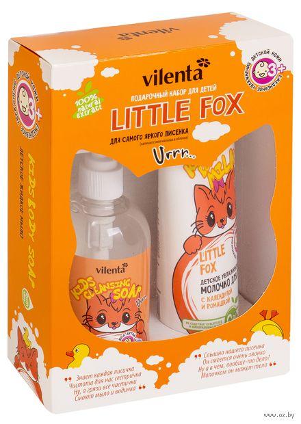"""Подарочный набор детский """"Little Fox"""" (жидкое мыло, молочко для тела) — фото, картинка"""