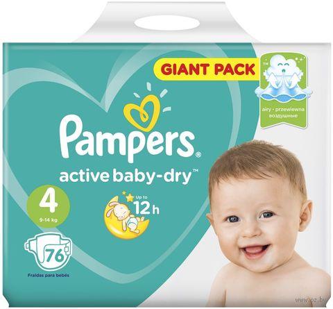 "Подгузники ""Active Baby-dry Maxi"" (9-14 кг; 76 шт.) — фото, картинка"