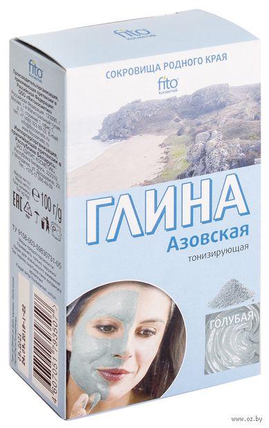 """Глина голубая для лица и тела """"Азовская"""" (100 г) — фото, картинка"""