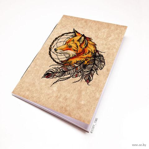 """Блокнот крафт """"Лиса с ловцом снов"""" (А5; арт. 508) — фото, картинка"""