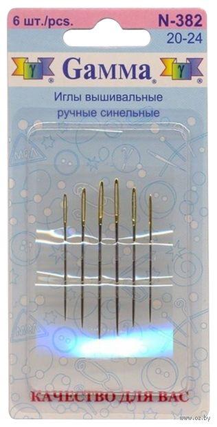 Иглы для вышивания синельные №20-24 (6 шт.) — фото, картинка
