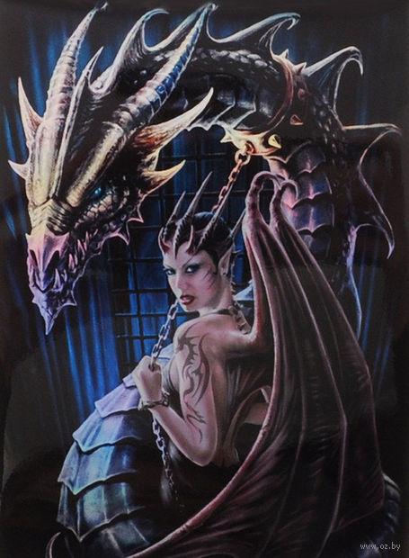 "Протекторы ""Девушка-дракон"" (66х93 мм; 50 шт.) — фото, картинка"