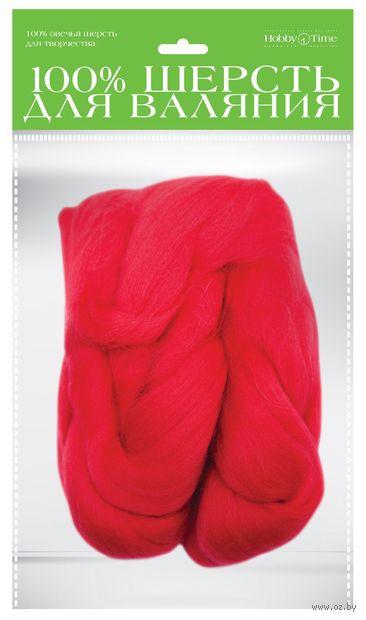 Шерсть для валяния (красная; 50 г) — фото, картинка