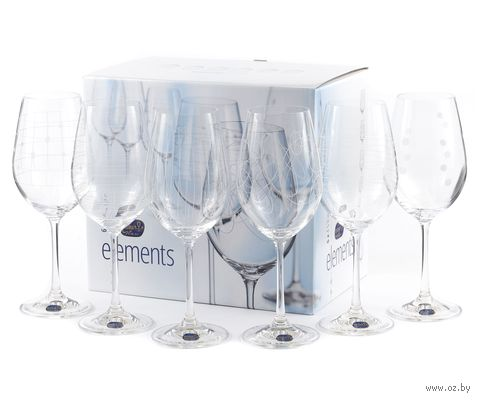 "Бокал для вина стеклянный ""Elements"" (6 шт.; 450 мл) — фото, картинка"