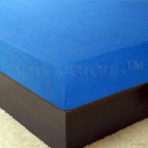 """Простыня махровая на резинке """"Ирис"""" (120х200 см) — фото, картинка"""