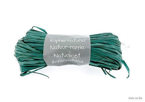 "Подарочная лента ""Natural Raffia"" (бирюзовая)"