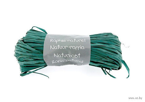 "Подарочная лента ""Natural Raffia"" (моток; цвет: бирюзовый)"