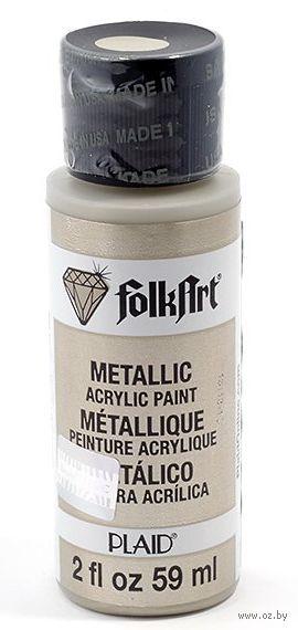 """Краска акриловая """"FolkArt. Metallic"""" (темно-серый, 59 мл; арт. PLD-00580)"""