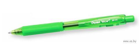 "Ручка шариковая зеленая ""Wow!"" (0,4 мм)"